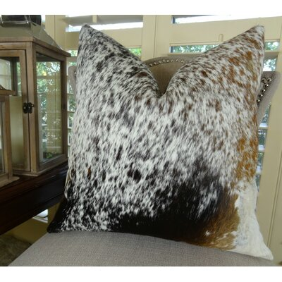 Exotic Salt Pepper Faux Suede Pillow Size: 16