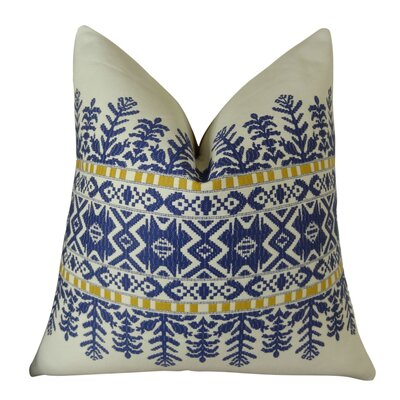 Aztec City Throw Pillow Size: 20 H x 20 W