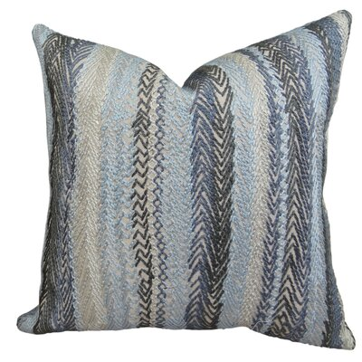 Zigzag Rows Linen Throw Pillow Size: 18 H x 18 W