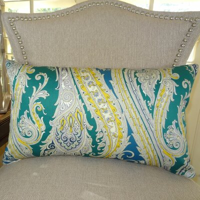 Fun Paisley Double Sided Lumbar Pillow Size: 12 H x 25 W