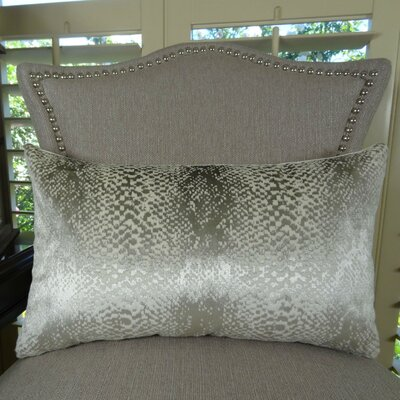 Hidden World Handmade Lumbar Pillow Color: Silver, Size: 12 H x 20 W