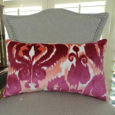 Velvet Bliss Coral Handmade Lumbar Pillow Size: 12 H x 25 W