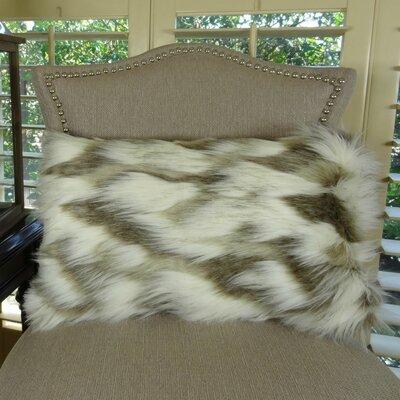 Tibet Fox Handmade Faux Lumbar Pillow Size: 12 H x 20 W