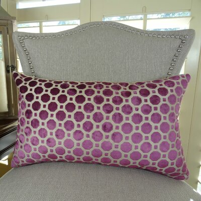 Velvet Geo Handmade Lumbar Pillow Size: 12 H x 20 W