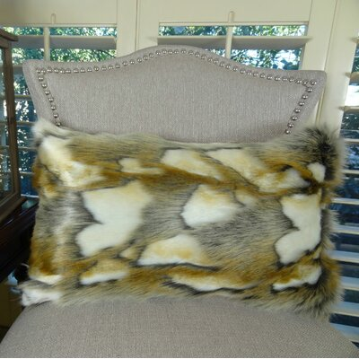 Brandy Fox Handmade Faux Lumbar Pillow Size: 12 H x 25 W