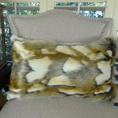 Brandy Fox Handmade Faux Lumbar Pillow Size: 12 H x 20 W
