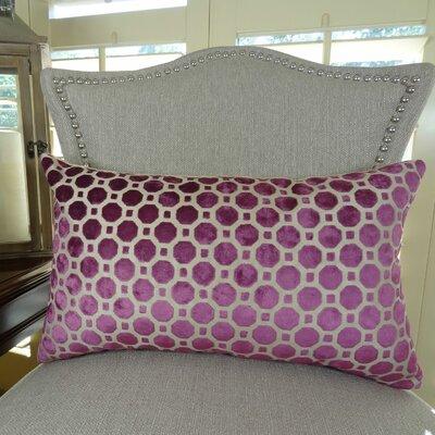 Velvet Geo Handmade Lumbar Pillow Size: 12 H x 25 W