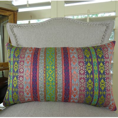 Fuchsia Stripes Lumbar Pillow Size: 12 H x 25 W