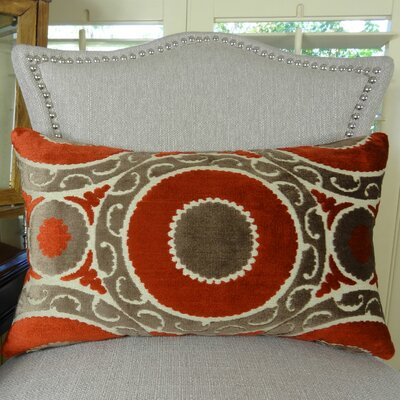 Pomegranate Double Sided Lumbar Pillow Size: 12 H x 20 W