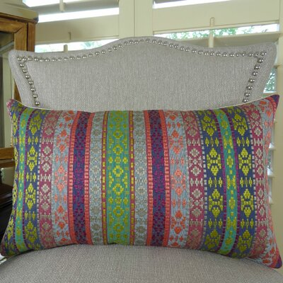 Fuchsia Stripes Double Sided Lumbar Pillow Size: 12 H x 20 W