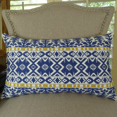 Aztec City Double Sided Lumbar Pillow Size: 12 H x 25 W