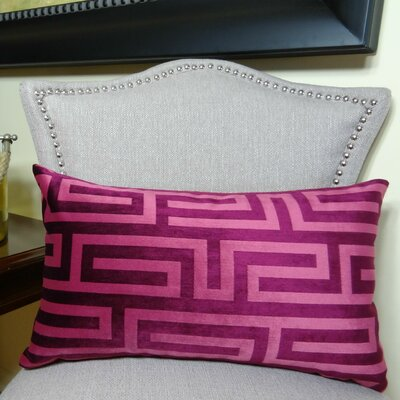 Cesire Maze Double Sided Lumbar Pillow Size: 12 H x 20 W