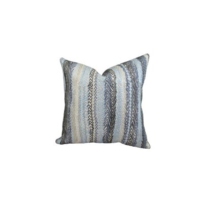 Zigzag Rows Double Sided Linen Throw Pillow Size: 16 H x 16 W