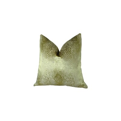 Hidden World Handmade Throw Pillow Size: 16 H x 16 W, Color: Gold
