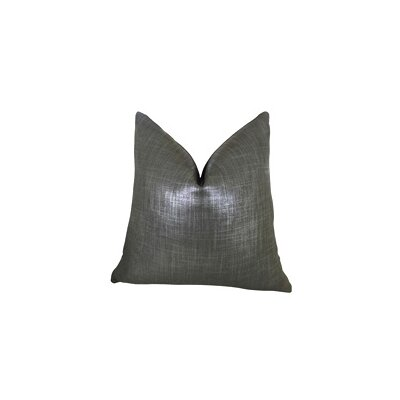 Glazed Linen Indigo Handmade Throw Pillow Size: 24 H x 24 W