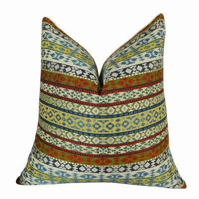 Fun Stripes Handmade Throw Pillow  Size: 22 H x 22 W