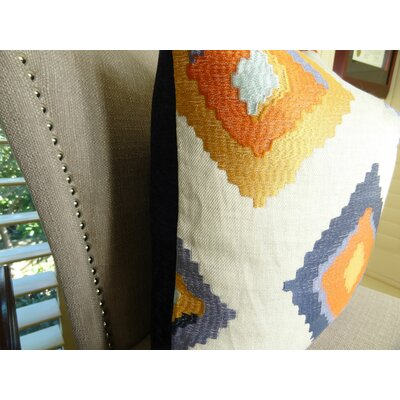 Native Trail Cayenne Handmade Linen Throw Pillow Size: 24 H x 24 W