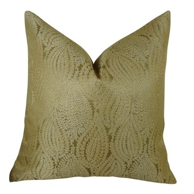 Leaf Pod Handmade Throw Pillow  Size: 16 H x 16 W