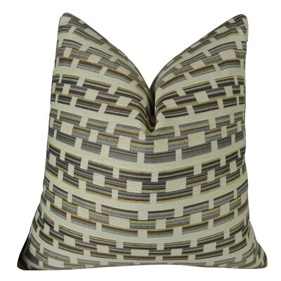 Square Link Handmade Throw Pillow  Size: 26 H x 26 W