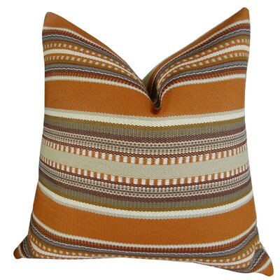 Chic Stripe Handmade Throw Pillow Size: 20 H x 26 W