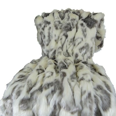 Rabbit Fur Handmade Throw Size: Queen