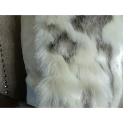 Rabbit Fur Handmade Throw Pillow Size: 26 H x 26 W