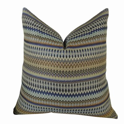 Zig Along Handmade Throw Pillow  Size: 22 H x 22 W