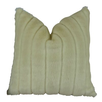 Fancy Mink Handmade Throw Pillow  Size: 18 H x 18 W