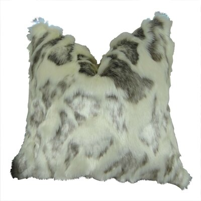 Rabbit Fur Handmade Throw Pillow  Size: 24
