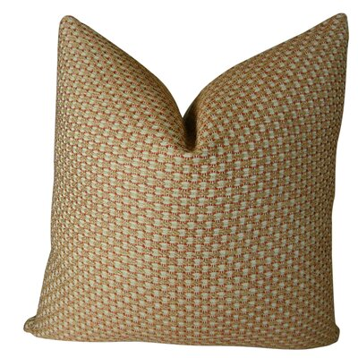 Alice Paprika Handmade Throw Pillow  Size: 26 H x 26 W