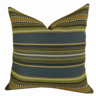 Chic Stripe Handmade Throw Pillow Size: 26 H x 26 W
