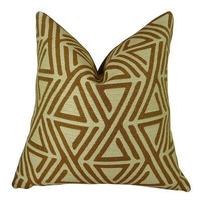 Triangle Maze Handmade Throw Pillow  Size: 22 H x 22 W
