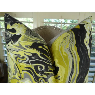 Medici Marble Ink Handmade Throw Pillow Size: 20 H x 20 W