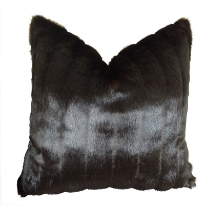 Tip Dyed Mink Handmade Throw Pillow  Size: 18 H x 18 W