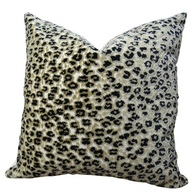 Cheetah Handmade Throw Pillow  Size: 26 H x 26 W