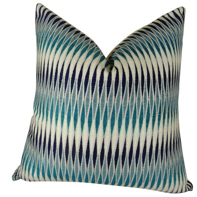 Thames River Cobalt Handmade Throw Pillow  Size: 24 H x 24 W