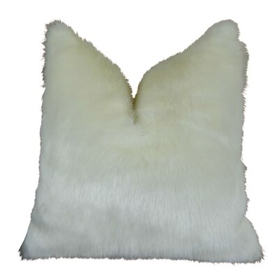 Arctic Fox Handmade Throw Pillow  Size: 18 H x 18 W