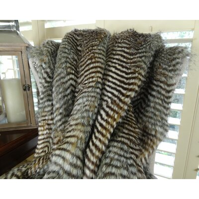 Fox Handmade Throw Size: 96 L x 60 W