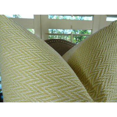 Nesting Zigzag Handmade Throw Pillow Size: 20 H x 20 W