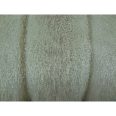 Fancy Mink Handmade Throw Pillow Size: 12 H x 25 W