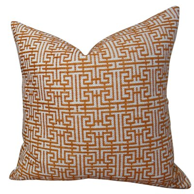 Maze Handmade Throw Pillow  Size: 18 H x 18 W