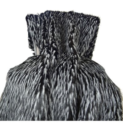 Wolf Fur Handmade Throw Size: King
