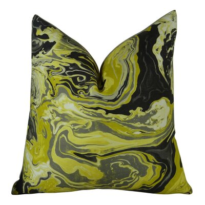 Medici Marble Ink Handmade Throw Pillow  Size: 26 H x 26 W