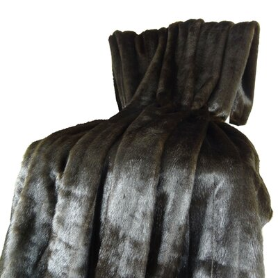 Tip Dyed Mink Handmade Throw Size: 90