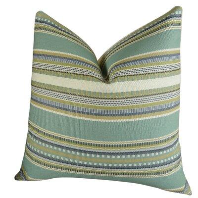 Chic Stripe Handmade Throw Pillow Size: 18