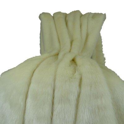 Arctic Fox Handmade Throw Size: 96 L x 60 W