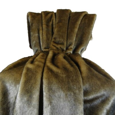 Wild Mink Fur Handmade Throw Pillow Size: Twin