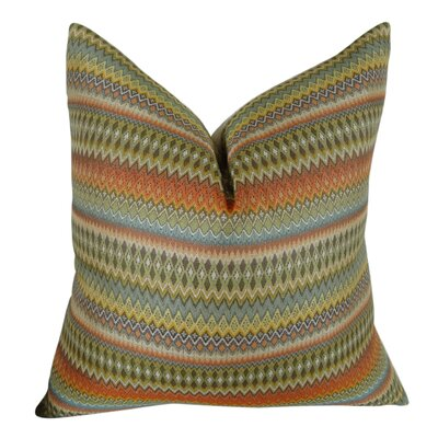 Zig Along Handmade Throw Pillow  Size: 18 H x 18 W
