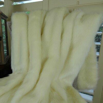 Arctic Fox Handmade Throw Size: Queen