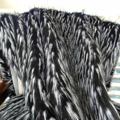 Wolf Fur Handmade Throw Size: 90 L x 108 W